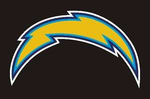 San Diego Chargers Lightning Bolt Decal Sticker 26 #19u