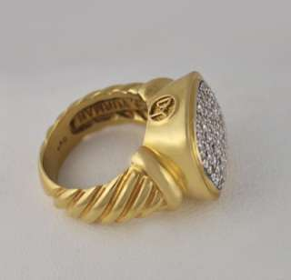 David Yurman Noblesse Diamonds 18k Yellow Gold Ring 5