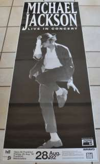 Michael Jackson rare Tour Concert poster in over size