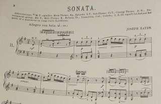 HAYDN SONATA #11 Vintage Classical Piano Sheet Music
