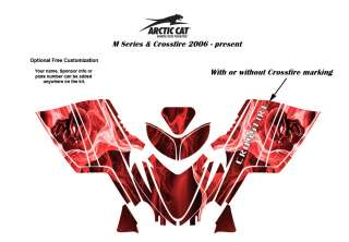 Artic Cat M Series Crossfire Sled Graphic Decal Kit Skull Red
