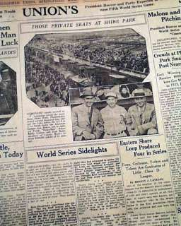 1929 WORLD SERIES Chicago Cubs vs. Philadelphia Athletics Newspaper