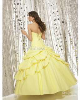 2011 Sweetheart Quinceanera Dress Prom Ball Gown color wedding dress