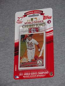 St Louis Cardinals 2011 World Series Champions Topps Team Set 27 Cards