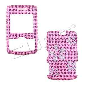 PINK FLOWERS CRYSTALS snap on cover faceplate for Samsung A767 Propel