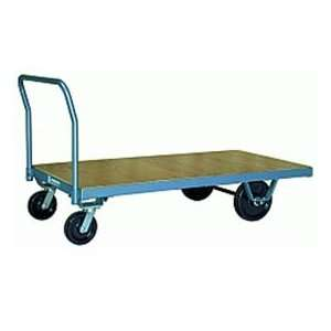 Platform Truck 36x60 Wood Deck Metal Wheels 3000 Lbs