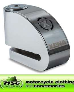XENA XR1 C MOTORCYCLE DISC LOCK ALARM CHROME 6mm PIN