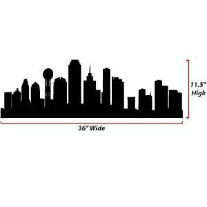 Dallas Skyline Silhouette  Medium  Vinyl Wall Decal