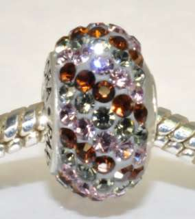 Authentic Swarovski Crystal 925 Pandora Bead Hot Cocoa (A)