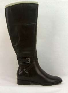 NEW IN BOX $190 CLARKS COUNTY FAIR BLACK LEATHER KNEE HIGH BOOTS 8M