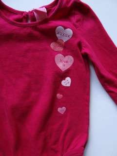 Girls Valentines Day Heart Onesie Size 24 Months