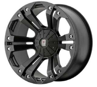 24 inch KMC XD Monster black wheels 6x135 Ford F150 +25