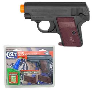 Colt 25 Spring Powered Airsoft Pocket Hand Gun Pistol Kit