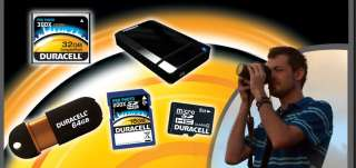 32GB COMPACT FLASH 600x MEMORY CARD CF DURACELL *NEW*