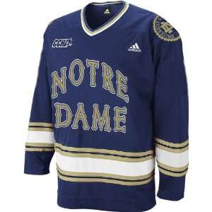 Adidas Notre Dame Fighting Irish Blue Premier Hockey Jersey: