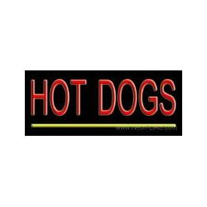 Hot Dogs Neon Sign 10 x 24