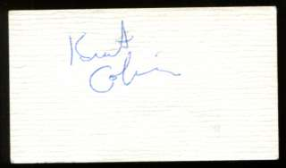 KURT COBAIN NIRVANA SIGNED AUTOGRAPHED BUSINESS CARD CUT SIGNATURE JSA