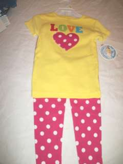NEW GIRLS CARTERS LOVE MOM DAD PAJAMAS SET 2T 3T 4T