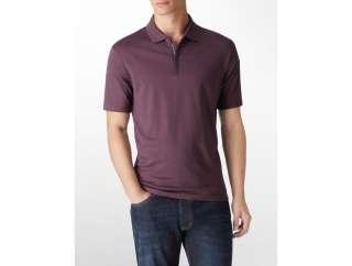 calvin klein mens liquid cotton polo shirt