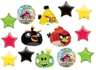 ANGRY BIRDS MEGA PACK PARTY decorations balloons red bomb yellow green
