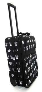 Piece Luggage Set Travel Bag Rolling Wheel Upright Black/White