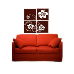 Hibiscus Flower Wall Art Vinyl Decal Collage Everything