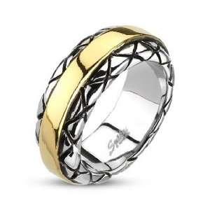 IP Stripe Checkered Cast Ring   Size 10 West Coast Jewelry Jewelry