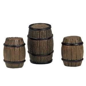 Village Collection Wooden Barrels 3 Piece Set #14634