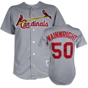 Adam Wainwright Majestic MLB Road Grey Replica St. Louis Cardinals