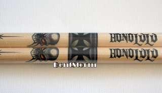 NEW Hard Rock Cafe HONOLULU Hawaii Drumsticks German Iron Cross Skull