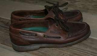 Vtg Sebago Docksides Boat leather Shoe Women 6M brown