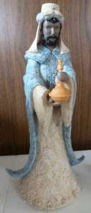 Set of 2 Wise Men Nativity Resin Figurines Boxed