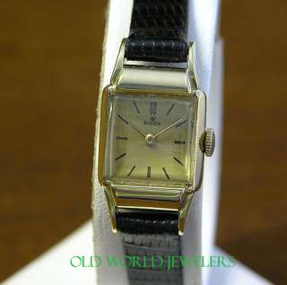 Rolex Vintage Ladys Ref 4309 18K Yellow Gold Watch 17J Manual Wind
