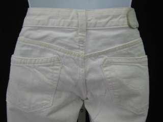 REPLAY White Denim Cropped Jeans Pants Sz 25