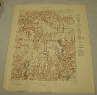 Similar to a USGS topographic map, but with added geological surface
