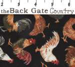 FQ TIMELESS TREASURES Hen Party roosters fabric C4636