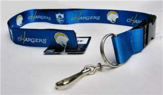 San Diego Chargers Team Blue Lanyard Key Chain ID Strap
