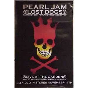 PEARL JAM Lost Dog Live At The Garden 24x36 Poster