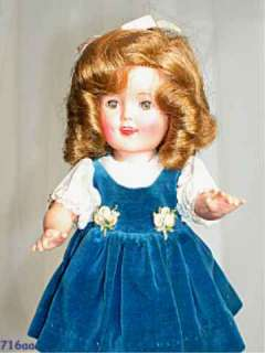 IDEAL SHIRLEY TEMPLE DOLL VINYL & PLASTIC ORIGINAL CLOTHES 1957 12 in