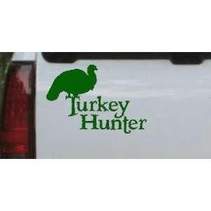 Dark Green 30in X 20.8in    Turkey Hunter Hunting And Fishing Car