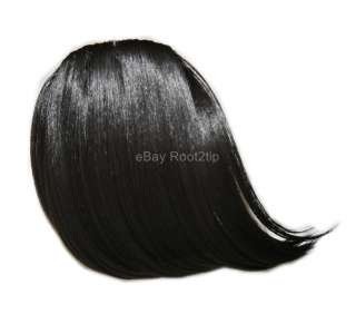 BLACK Nicki Minaj Clip in Hair extension Wig Hairpiece Bangs*