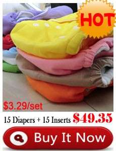 Wholesale Washable Insert Baby Cloth Diaper Nappy Liners Inserts 100%