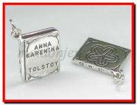 Anna Karenina by Tolstoy Book sterling silver charm .925 x 1 DKC47499