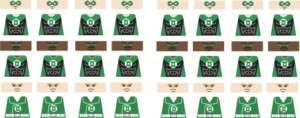 Custom Lego minifig GREEN LANTERN Decals Guy, Hal, John