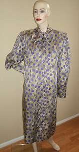 80s vintage Marshall Fields Private Collection purple dot silk shirt