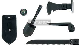 Black 5 In 1 Multi Purpose Military Tool Set
