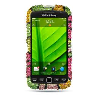 Flowers Bling Cover Case For Blackberry Torch 9850 9860 Phone