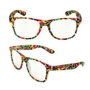 Wayfarer Fashion Sunglasses 222MLRCL Multi Color Frame Design with
