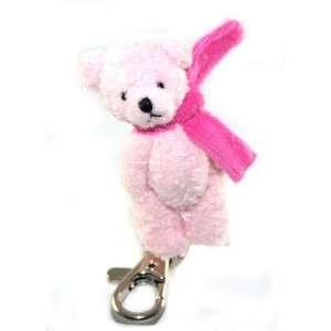 Adorable Alexx Inc Plush Pink Teddy Bear with Pink Scarf