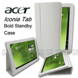 Acer Iconia Tab A500 A501 Folio Leather Case Cover with Stand